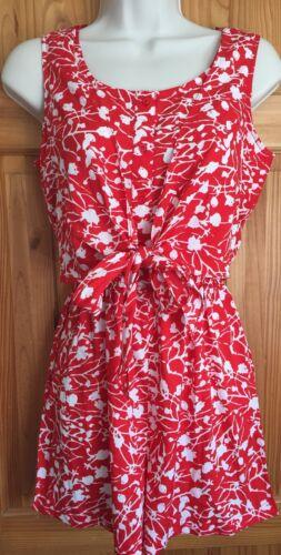 Soldes d/'été Femmes Rouge Blanc Floral Filles Combi ange Combinaison UK 8-16