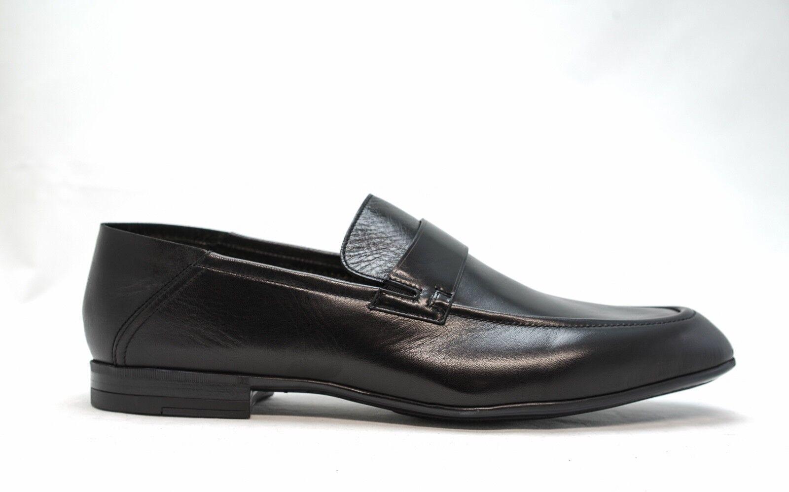 Fabi Men's Black Leather Slip On Loafer 8940A New in Box