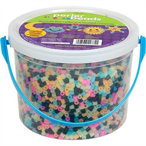 Perler plastique Fun Fusion Fuse Bead Seau-Glow in the Dark-Fused Seau