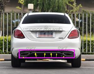 Chrome Rear Left Bumper Moulding Trim for Mercedes C-Class C300 C250 2012-2014