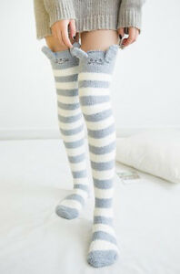 Amazing-Novelty-Fluffy-Totoro-Over-Knee-Socks-Warm-Soft-Cosy-Gift-Bed-Socks