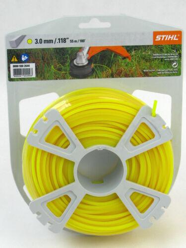 gelb Stihl Mähfaden quadratisch 0000 930 2644 3mm x 55m