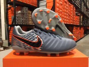 Nike-Junior-Legend-7-Academy-FG-Cleats-Grey-Black-Armory-Blue-Size-10c-3y-NEW