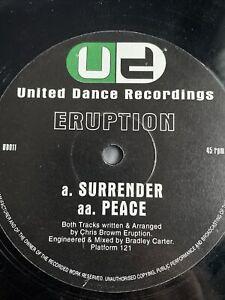 "DJ Eruption - Surrender / Peace 12"" Happy Hardcore Vinyl 1996 United Dance 96"