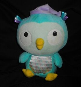 10 2015 Hallmark Aqua Blue Purple Baby Owl Stuffed Animal Plush Toy