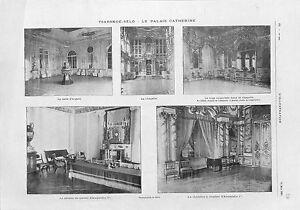 Chapelle-Palais-Tsarskoie-Selo-Pouchkine-la-Grande-Catherine-Russie-GRAVURE-1902