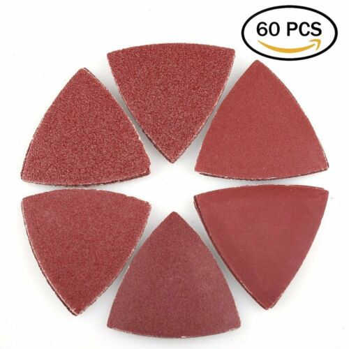 Triangle Sanding Pads for Oscillating Multitool Hook and Loop Assorted Sandpaper