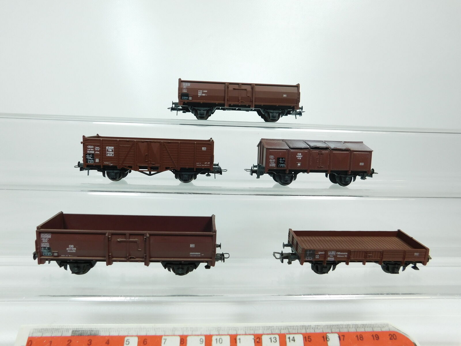 Bg783-1x Roco h0 dc Freight Wagon DB  897000+340827+752053+5054881-1+465826