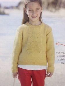Children'S Owl Sweater Pattern 86