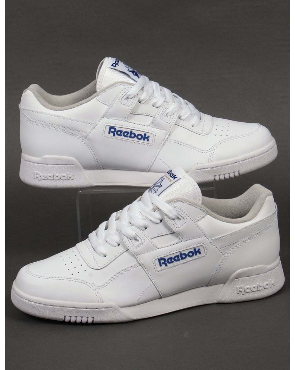 Reebok Workout Plus Trainers in Weiß - classic H Strap soft full grain leather