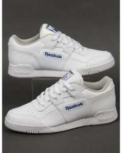 more photos d53be 9ac80 Image is loading Reebok-Workout-Plus-Trainers-in-White-classic-H-