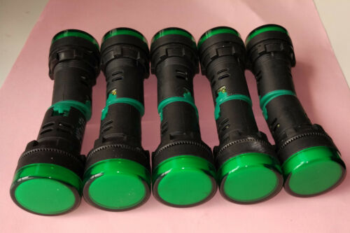 10pcs 12V DC AC 22mm Green LED Power Indicator Signal Light AD16-22D//S CE UL