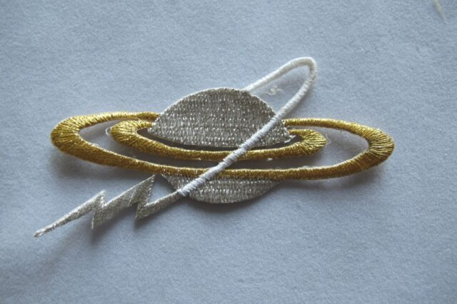 #2433 Gold,Sliver Earth,Galaxy Embroidery Iron On Applique Patch