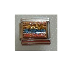 9mm-Italian-Charm-E65-Pride-Glitter-Rainbow-Flag-Fits-Classic-Size-Bracelet