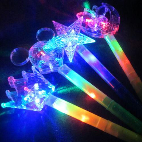 LED Flashing Stick Children Girls Light Up Moon Star Fairy Magic Wand Sticks