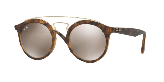 219747b08f7 Ray-Ban Gatsby RB 4256 60925a Havana Sunglasses Gold Mirror Lens 49mm