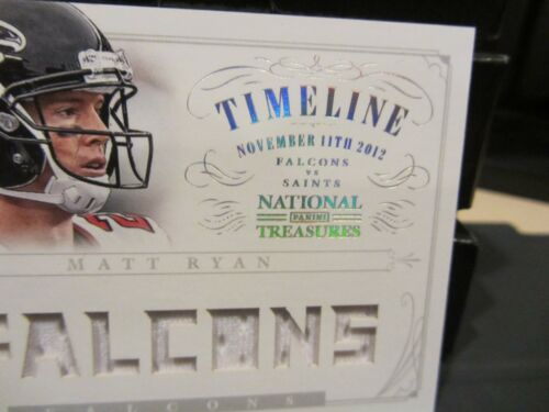 3cce9493fc9 on sale National Treasures Timeline Game Worn Jersey Falcons Matt Ryan  22 25 2013