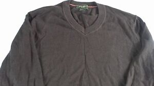 Eddie-Bauer-Cotton-Cashmere-Sweater-Mens-Medium-V-Neck-Long-Sleeve-Pullover-Guys