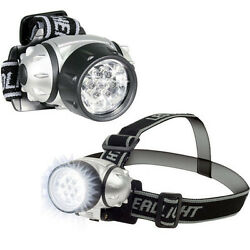 2-Pack 7 LED Adjustable Head-Lamp with Pivoting Light-Head