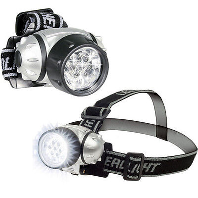 2 Pack: 7 LED Adjustable Head-Lamp with Pivoting Light-Head