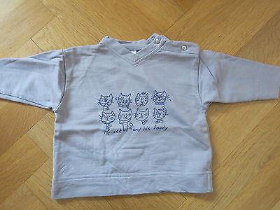 PULLI PULLOVER GR. 74 Katzenmotiv Langarmshirt Sweatshirt