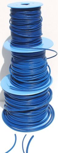 various lengths 3mm Blue Spanish Leather Cord//Thong  2mm 4mm