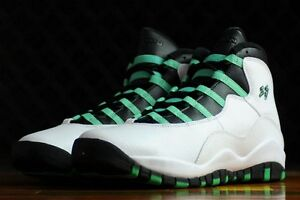 huge discount f52df db087 Details about Air Jordan 10 X Retro 30th Anniversary GG Verde White Black  Infrared 705180-118