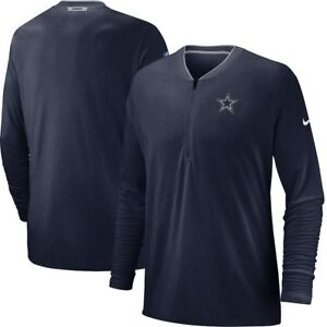 Dallas-Cowboys-Nike-Sideline-Coaches-Half-Zip-Pullover-Jacket-Navy-NEW-WITH-TAGS