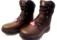 BRAHMA* Men Size 8,10,10.5,12  Brown STEEL TOE-INSULATED-Safty Work Boots