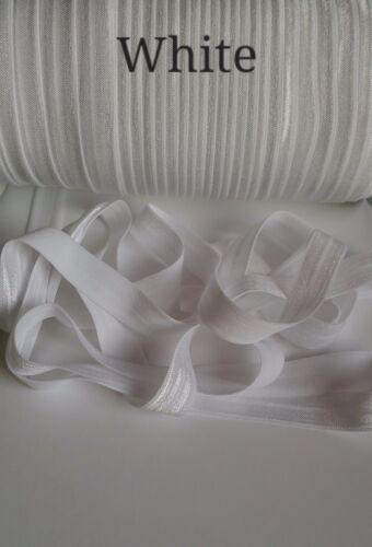 """FOLDOVER Baby Cerchietto Elastico Morbido TAGLIO BRILLANTE 3 e 5 metri-larghezza di 5//8/"""" 1"""
