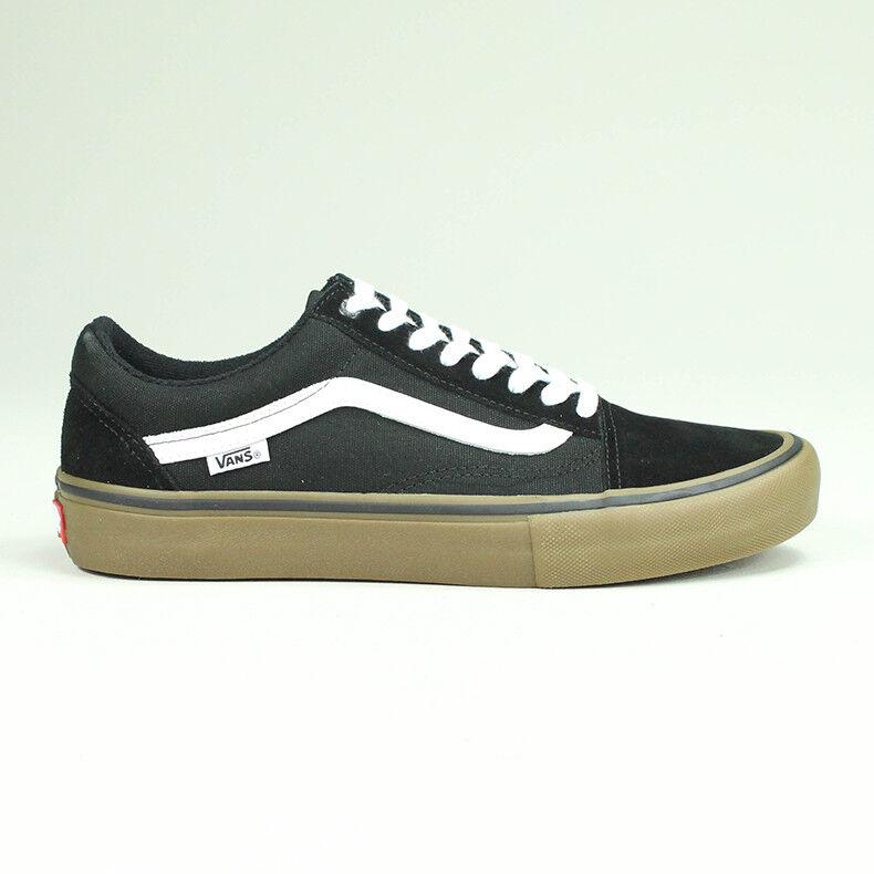 Vans Old Skool Pro Trainers Shoes Black/White/Gum UK Sizes 6,7,8,9,10,11,12