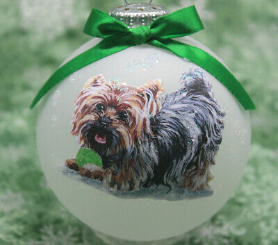 Personalize with Name Yorkshire Terrier Dog Ornament Great as Christmas Gift!