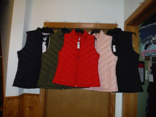 Gap Full Zip 2 side pockets NWT Women/'s Puffer Vests 2XL,XL,L,M,S,XS