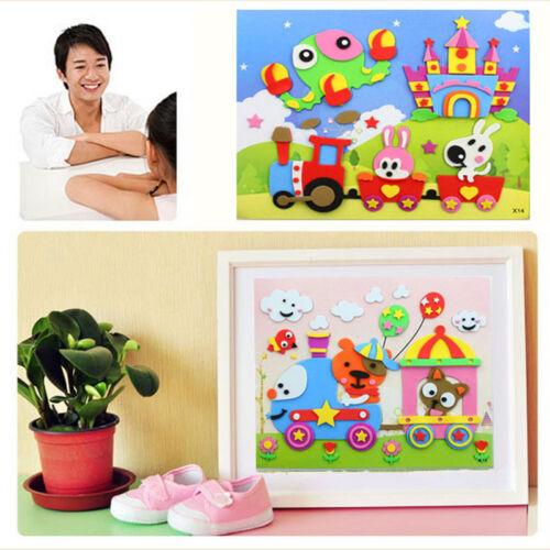 1Pcs 3D DIY EVA Crafts Foam Puzzle Stickers Toy Art Gift for Kids 21cm*26cm New