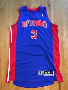 Authentic-adidas-Player-Issued-Rodney-Stuckey-Detroit-Pistons-NBA-Jersey-XL-2