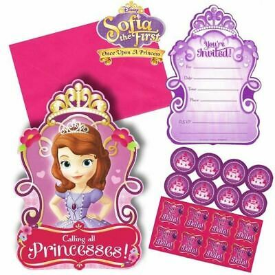 Sofia The First Invitations X 8 Birthday Invites Party Supplies 13051466473