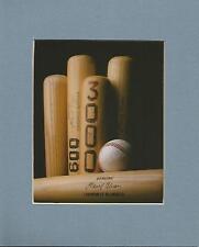 Matted Sports Photo -  Hank Aaron's 600 Homers - 3,000 Hits - Vintage Baseball