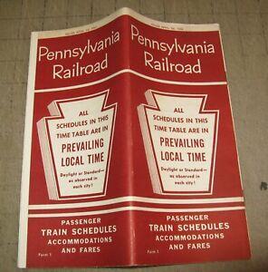 1961 PENNSYLVANIA RAILROAD RR Time Table Brochure - Passenger Train Schedules