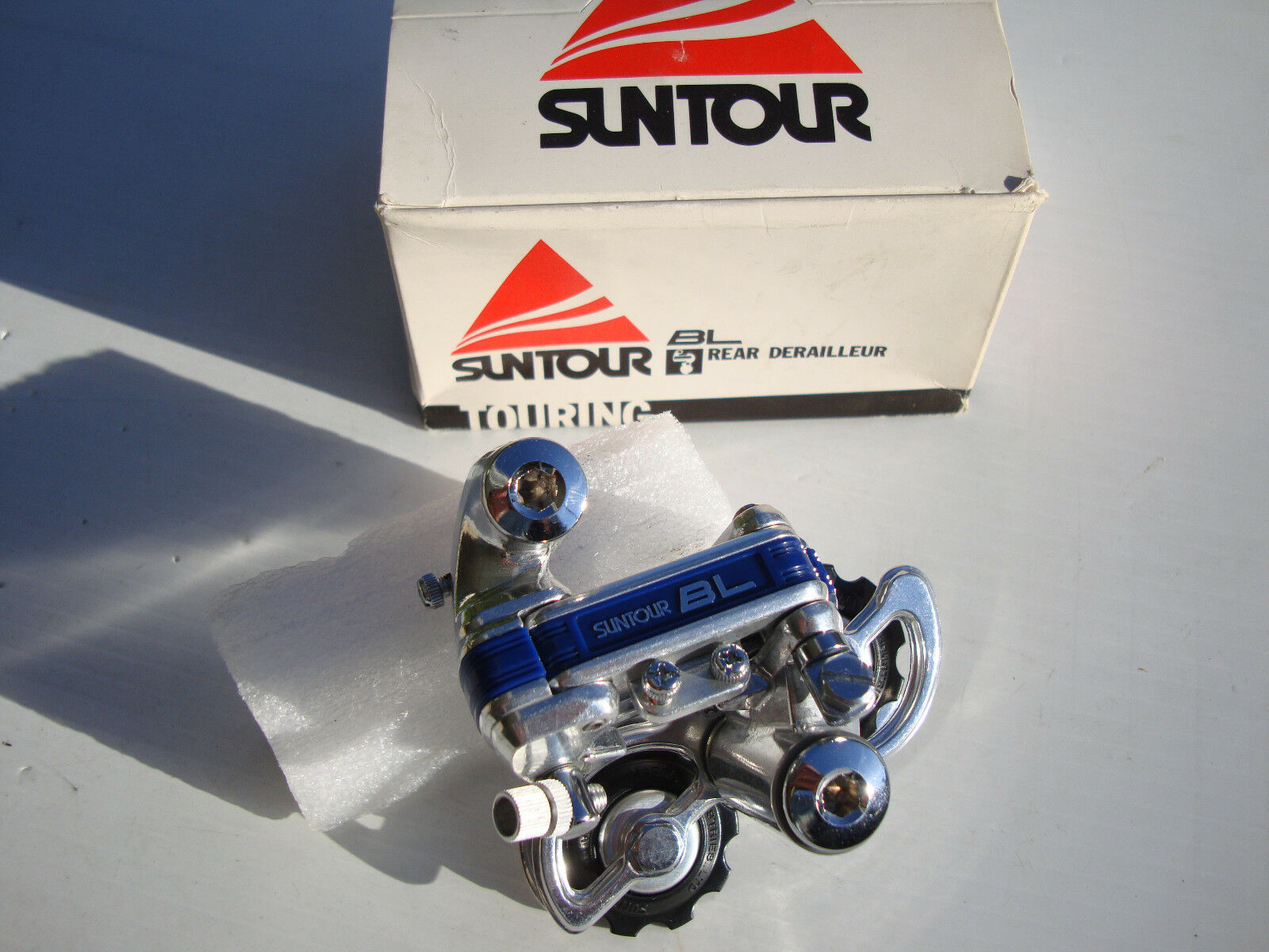 NOS Suntour bluee Line  BL Rear Derailleur Bike Road Bicycle Trek 5 6 7 Spd Fuji  hastened to see