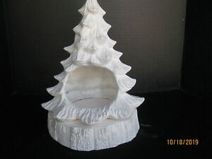 """13/"""" Nowell Christmas Tree with Base /& Light Kit  *Ceramic Bisque Ready to Paint"""