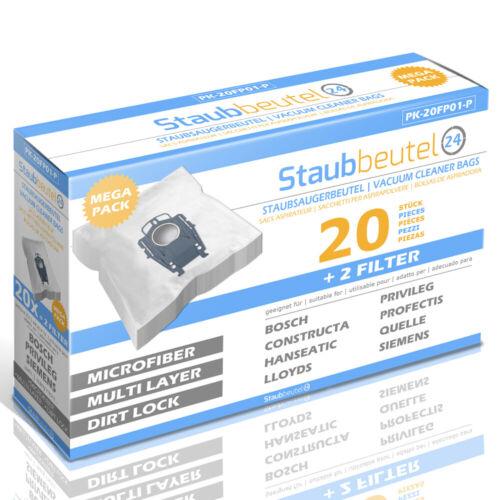 20 Premium Staubsaugerbeutel Für BOSCH Serie BSG8.. Ergomaxx // Typ P
