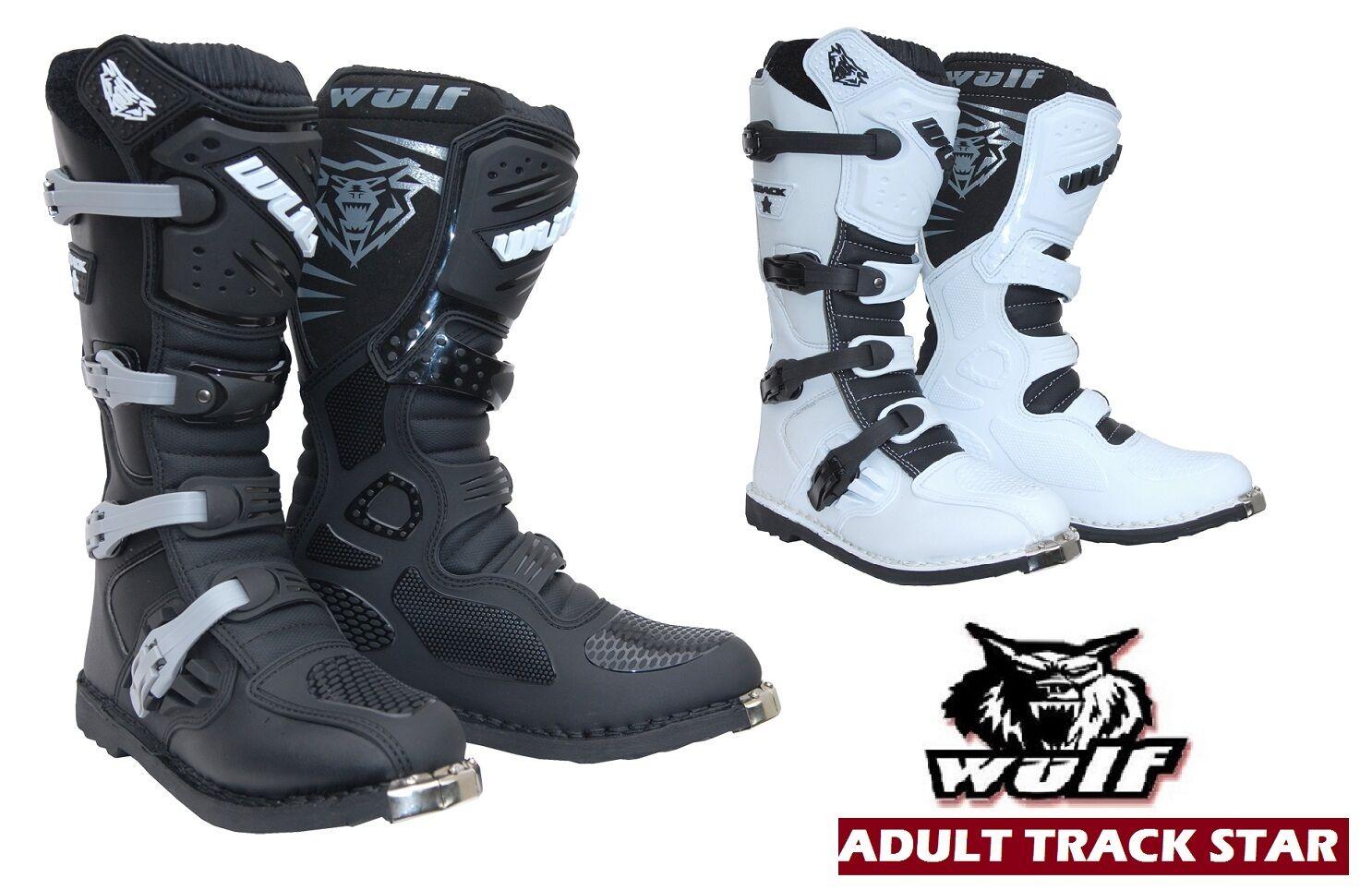 WULF TRACKSTAR botas de moto carreras Enduro Quad botas de motocross ATV scooter