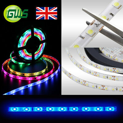 Flexible 5m 12v Ip65 Waterproof Smd 3528 5050 Led Strip Light Tv Back Lights Rgb