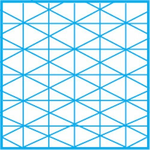Fade out Design /& Sketch Vellum w// 30 Degree Isometric Grid 50 Sheets BESTSELLER