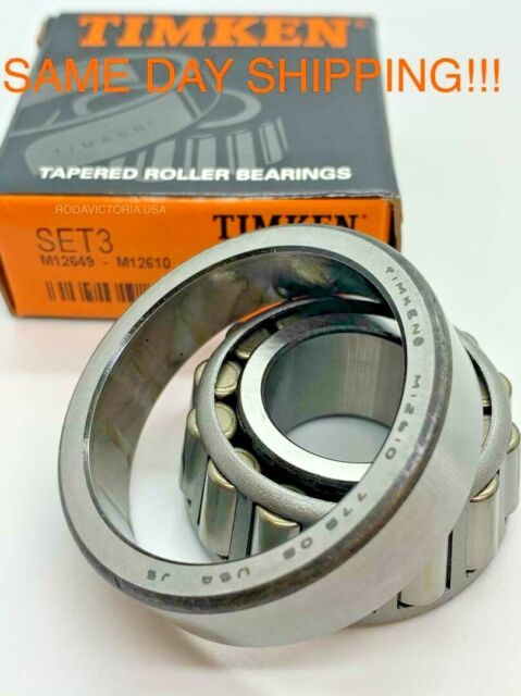 """M12648//M12610 Tapered Roller Bearing 0.875/""""x1.968/""""x0.69/"""" Inch"""