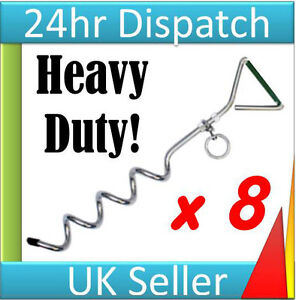 """4 x LARGE 16/"""" TENT MARQUEE PARTY Pop-Up GAZEBO TIE DOWN STAKES PEGS anchors New."""