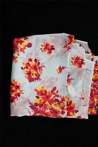 Vintage-1930-039-s-Powder-Blue-Silk-Chiffon-Floral-Fabric-8yd-Length-x-43-034-Width
