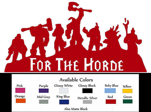 "Horde Logo Decal Sticker 8.5/"" X 5/"" Horde Army, For The Horde"