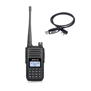 Details about DMR Walkie Talkies Retevis RT80 UHF 999CH DTMF Encryption FM  Radio+USB Cable
