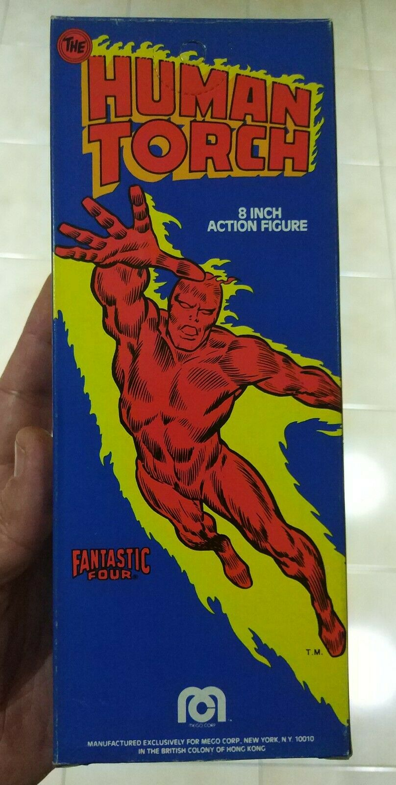 UNPLAYED HIGH CONDITION  MINT MEGO THE TORCH FANTASTIC FOUR FOUR FOUR SUPER HEROES MEGO 92a7e2